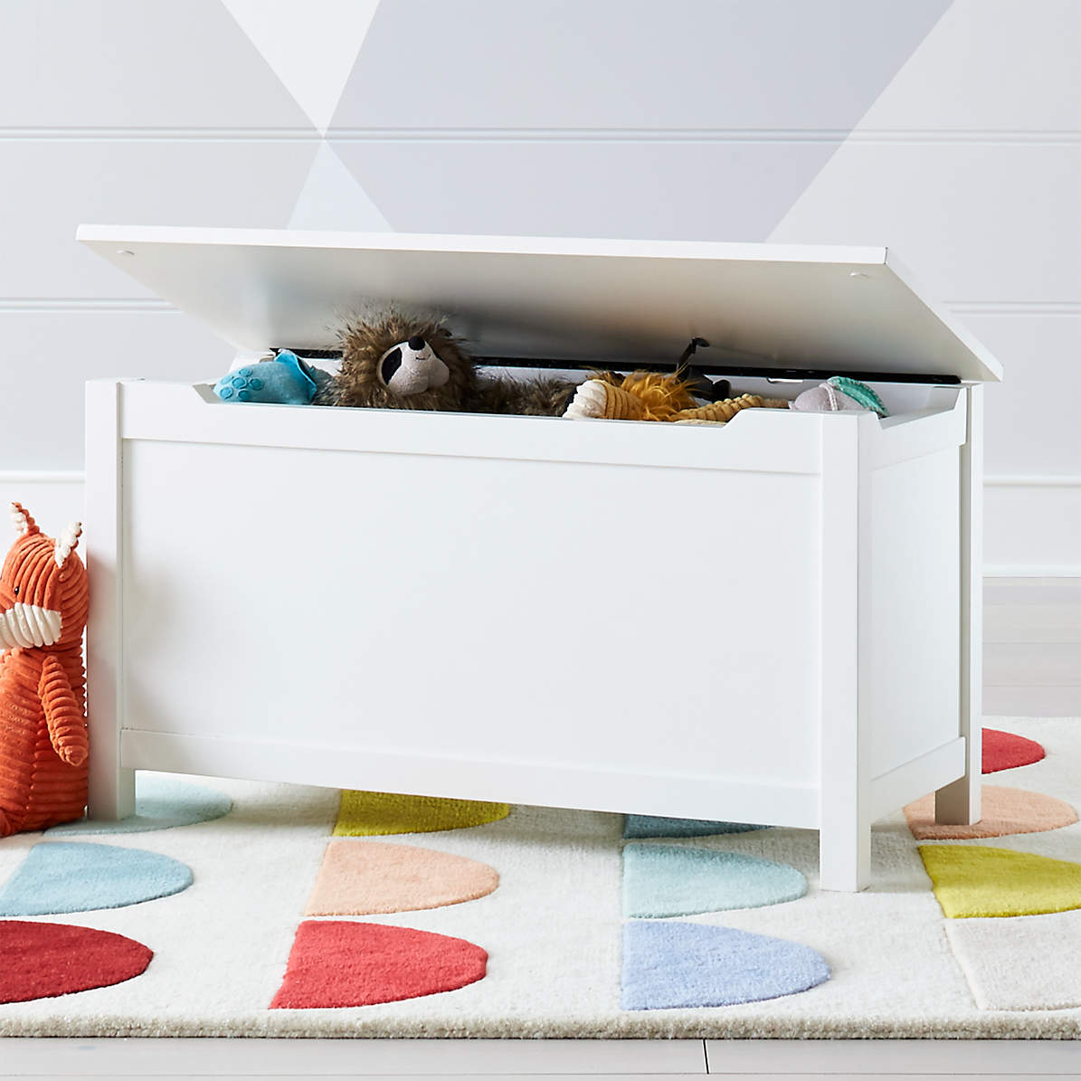 I M Just A White Wooden Toy Box Reviews Crate And Barrel