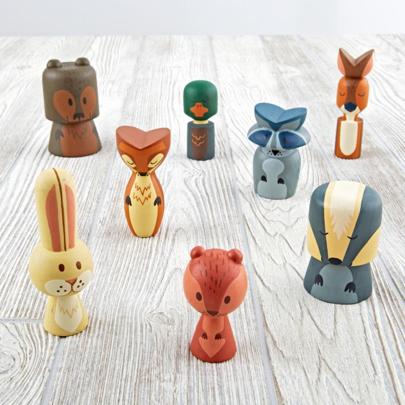 Kids Wooden Animal Toy Set Reviews Crate And Barrel