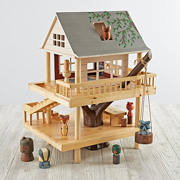 Treehouse Play Set And Wooden Forest Animals Reviews