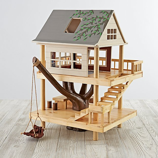 wooden treehouse play set reviews crate and barrel - Tree House Plans Metal Crate