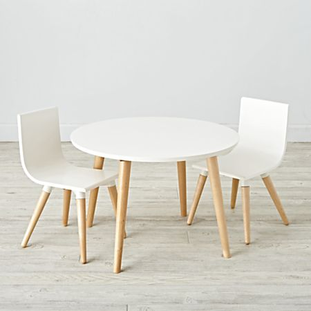 Pint Sized White Toddler Table and Chair Set