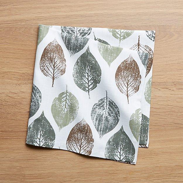 Imprint Leaf Dinner Napkin