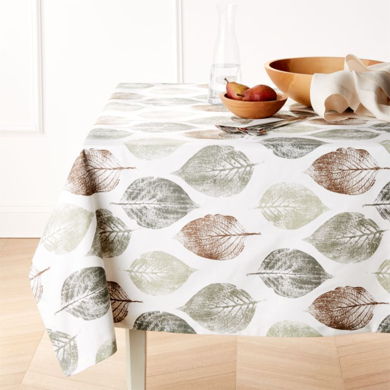 Imprint Leaf Tablecloth