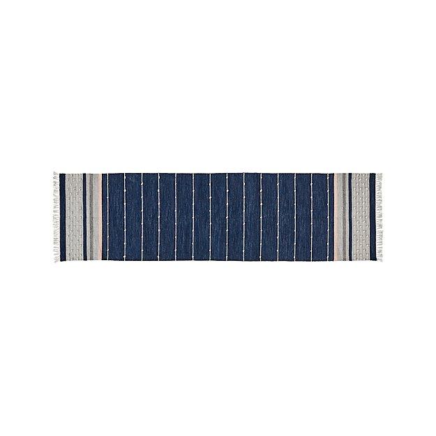 Inavi Blue Indoor/Outdoor Rug 2.5'x9' - Image 1 of 3