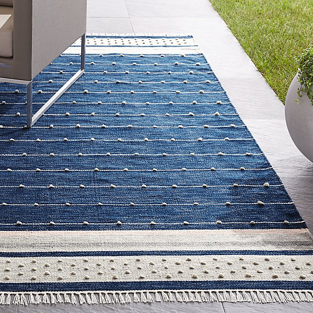 Inavi Blue Indoor/Outdoor Rug - Image 1 of 3