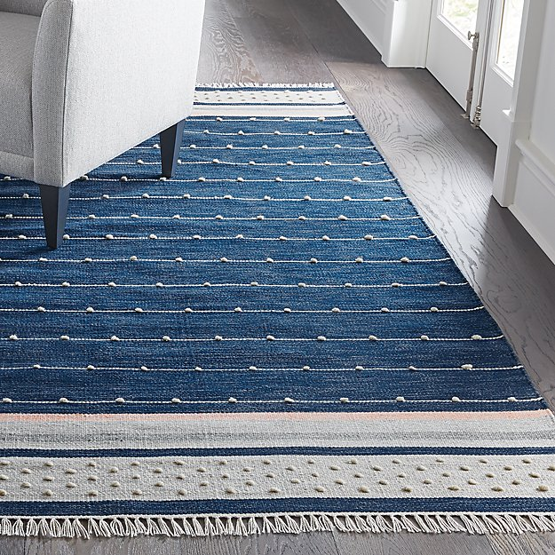Inavi Blue Rug Crate And Barrel