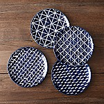 Indigo Blue Batik Plates  Set of 4