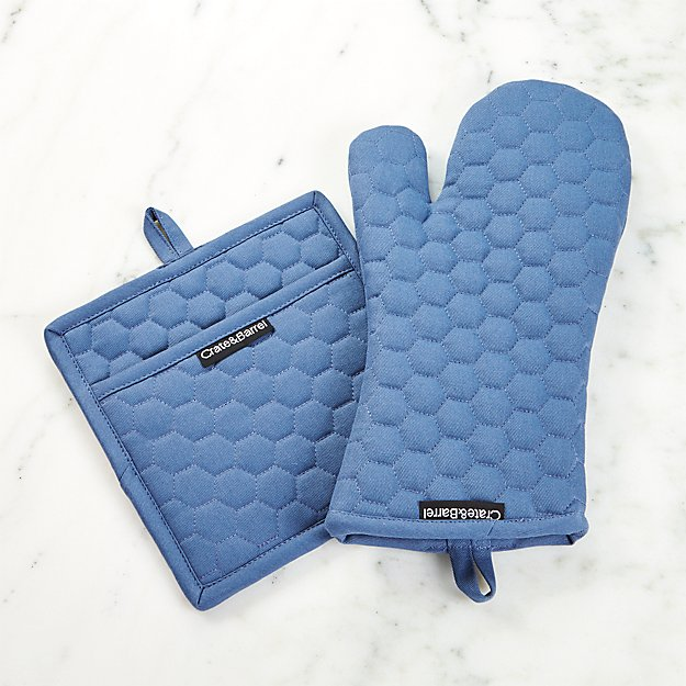 Indigo Oven Mitt and Pot Holder - Image 1 of 2