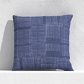 "Indigo Pixel 20"" Outdoor Pillow"