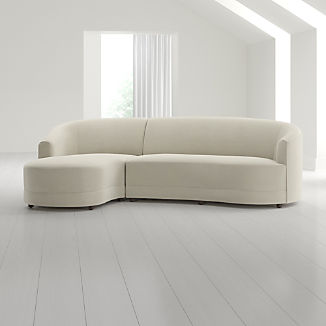 Infiniti 2-Piece Curve Back Sectional
