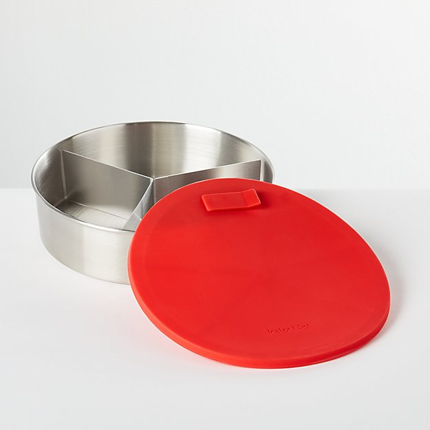 """Instant Pot ® 7"""" Round Cook/Bake Pan with Divider - Image 1 of 3"""