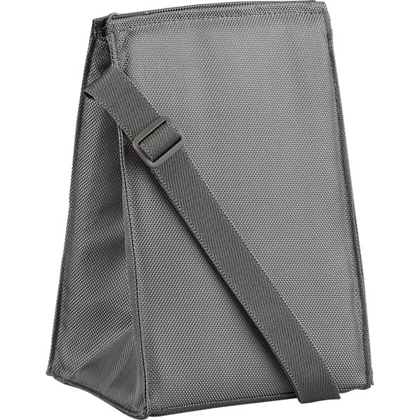 Insulated Grey Lunch Bag