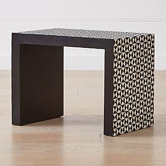 Intarsia Black C Table