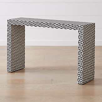 Intarsia Black Console Table