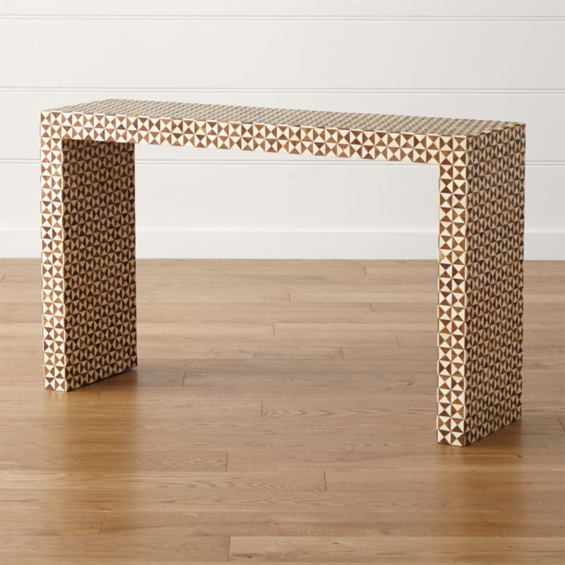 Intarsia Console Table by Crate&Barrel