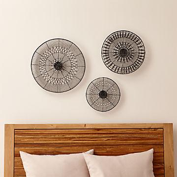 Wall Art Wood Metal And Fabric