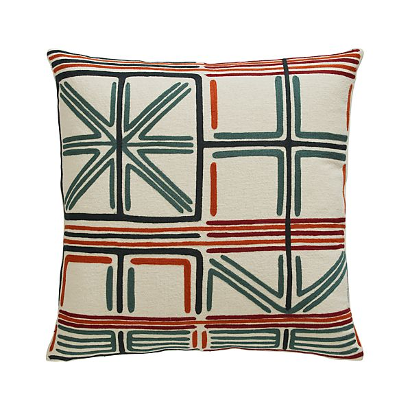 """Irving 23"""" Pillow with Down-Alternative Insert"""