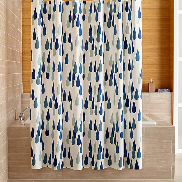 Shower Curtains crate and barrel shower curtains : Marimekko Iso Pisaroi Shower Curtain | Crate and Barrel