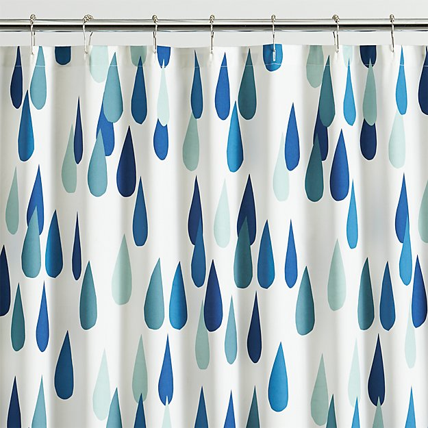 Marimekko Raindrop Shower Curtain | Crate and Barrel