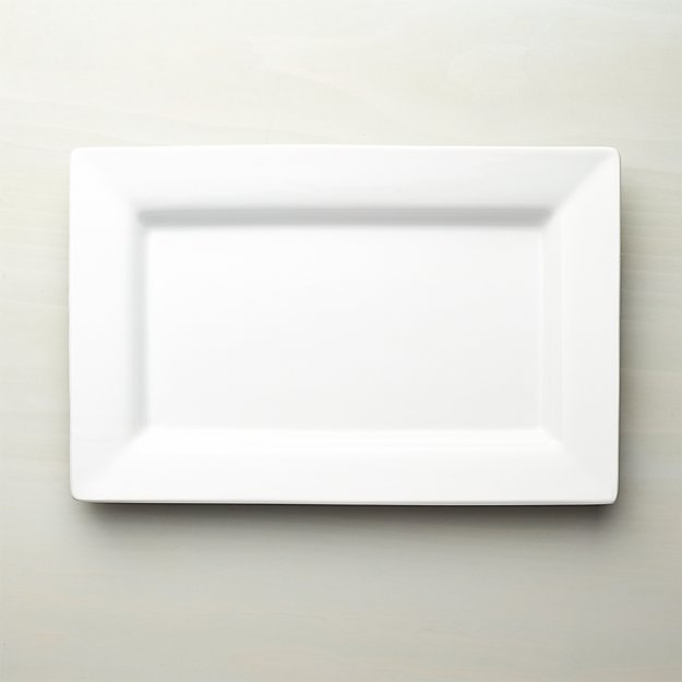 Italian White Ceramic Large Platter