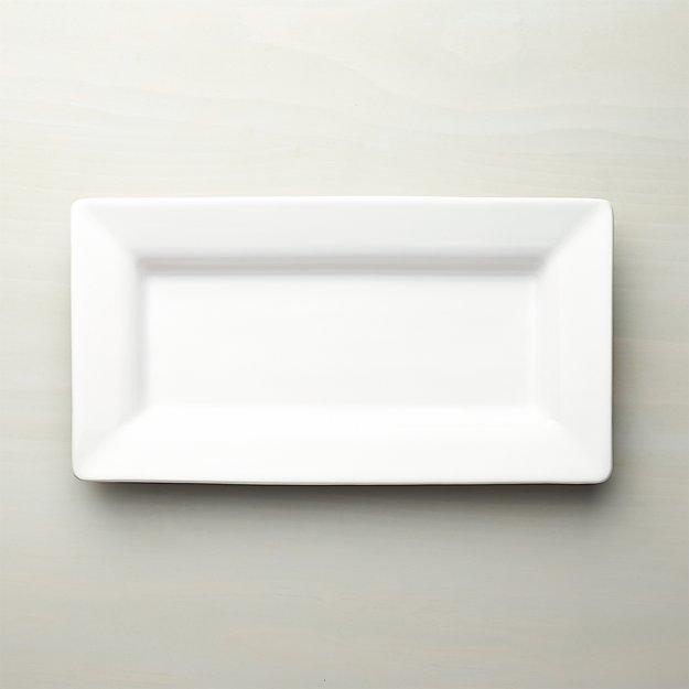Italian White Ceramic Small Platter