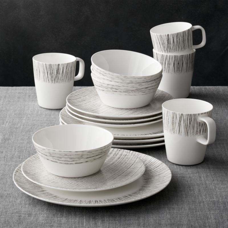 Ito 16 Piece Dinnerware Set Reviews Crate And Barrel