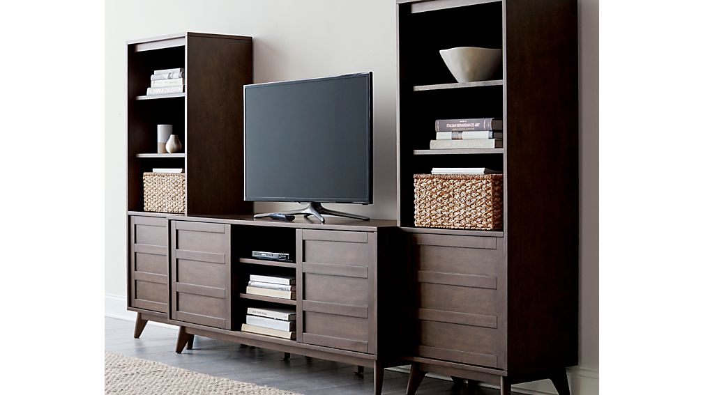HD Media Console with Two Towers