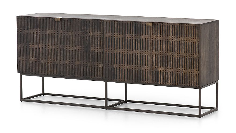 Ivan Wood and Iron Media Console - Image 1 of 12