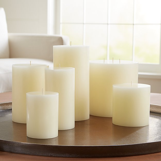 Ivory Pillar Candles - Image 1 of 6