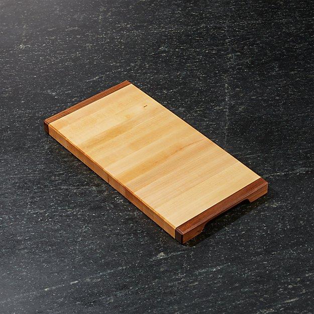 """J.K. Adams 16""""x8"""" Equinox Wood Cutting Board"""