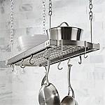 J.K. Adams Large Grey Ceiling Pot Rack
