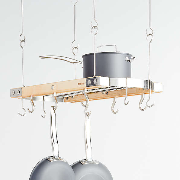 Pot Racks Hanging Wall Mounted Stand Crate And Barrel