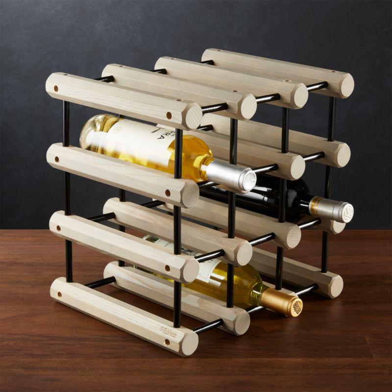 J K Adams Modular Wood Wine Rack Reviews Crate And Barrel