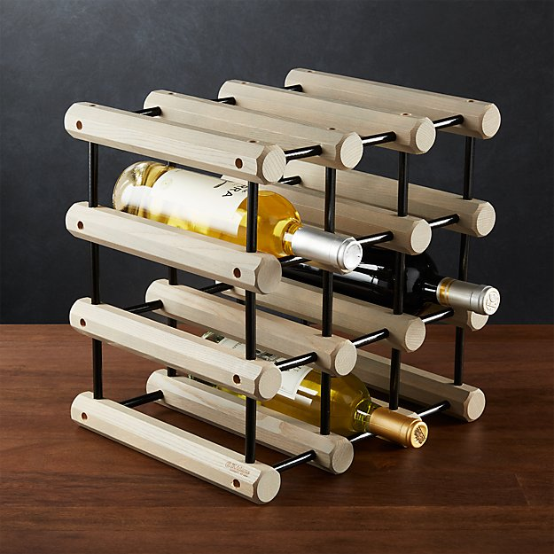 Jk Adams Modular Wood Wine Rack Reviews Crate And Barrel