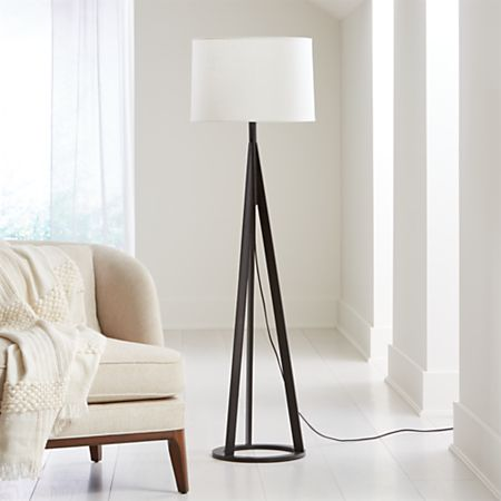 Jackson Black Tripod Floor Lamp Reviews Crate And Barrel