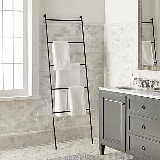 Jackson Black Towel Ladder