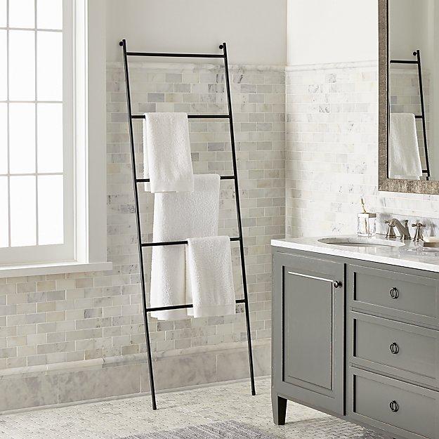 Jackson Black Towel Ladder - Image 1 of 6