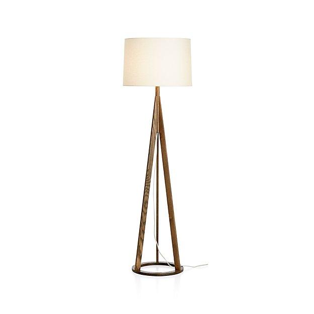 Jackson Dark Brown Floor Lamp In Floor Lamps Reviews Crate And Barrel