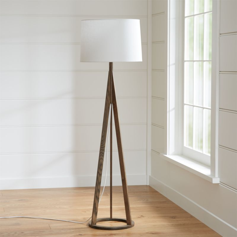 Jackson Dark Brown Floor Lamp Reviews Crate and Barrel