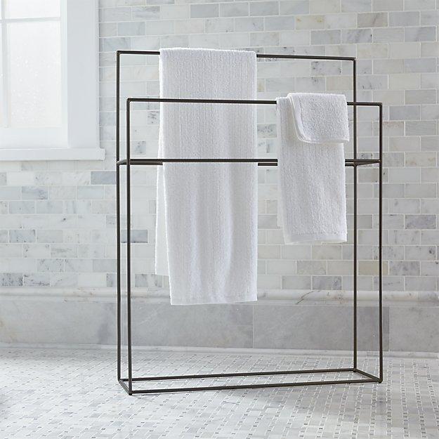 Jackson Gunmetal Standing Towel Rack Reviews Crate And Barrel
