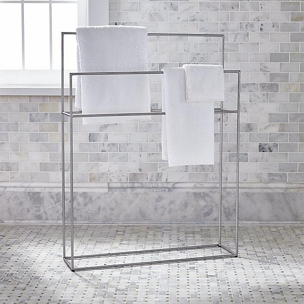 Jackson Nickel Standing Towel Rack Reviews Crate And