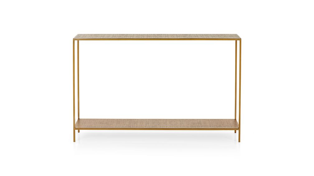 Jacque Brass Console Table Crate And Barrel