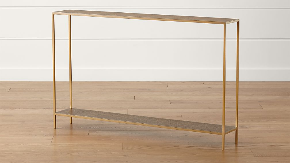 jacque brass console table + reviews | crate and barrel