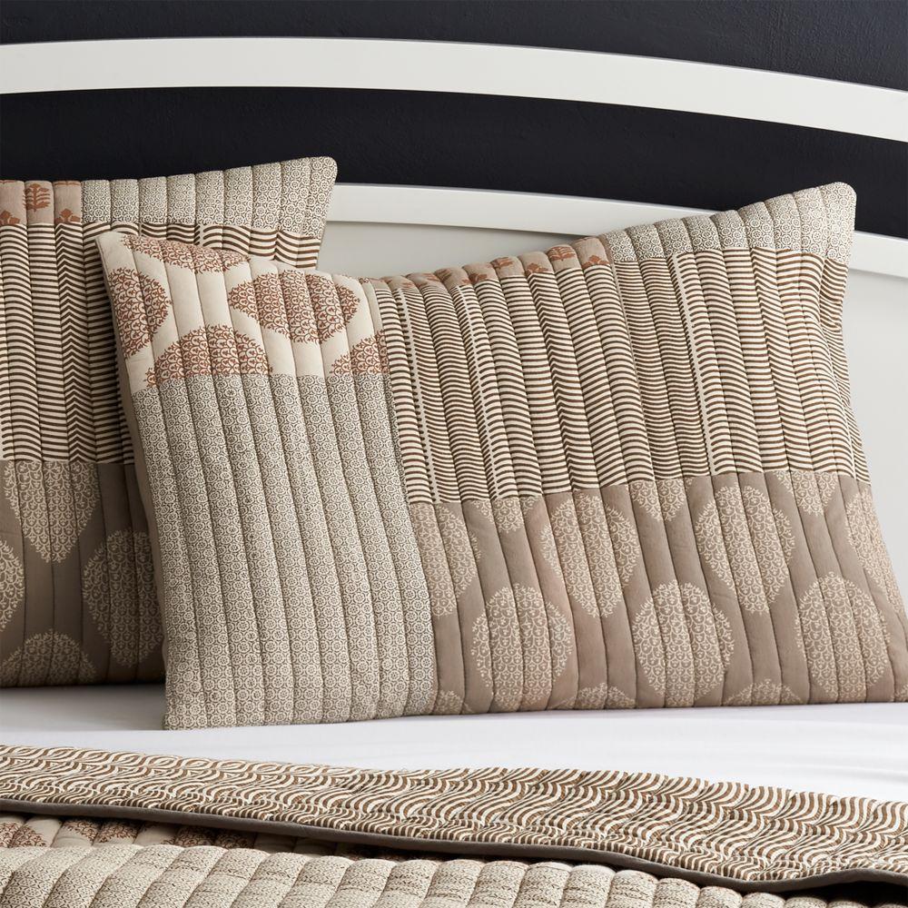Jaipur Orange Standard Pillow Sham - Crate and Barrel
