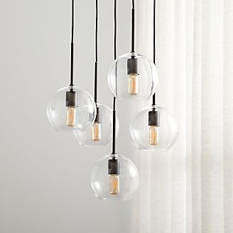 Pendant lighting and chandeliers crate and barrel jamie cluster pendant light aloadofball Gallery