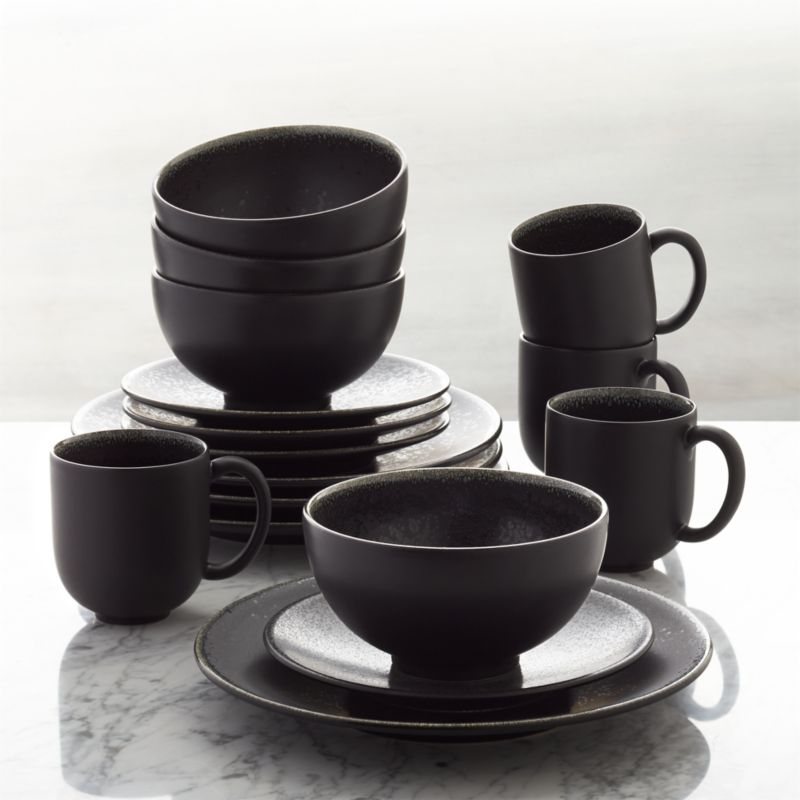 Jars Tourron Black 16 Piece Dinnerware Set Reviews