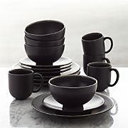 Jars Tourron Black 16-Piece Dinnerware Set