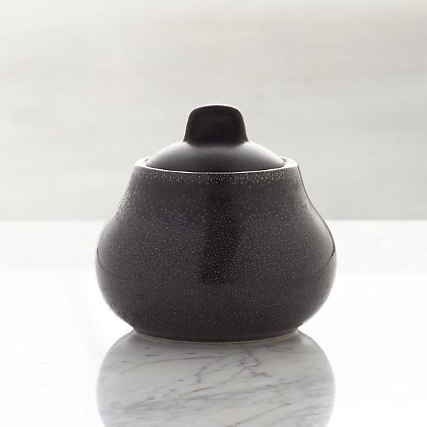Jars Tourron Black Sugar Bowl with Lid