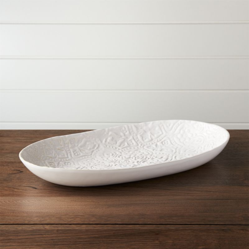 Jars Toulouse White Platter Reviews Crate And Barrel
