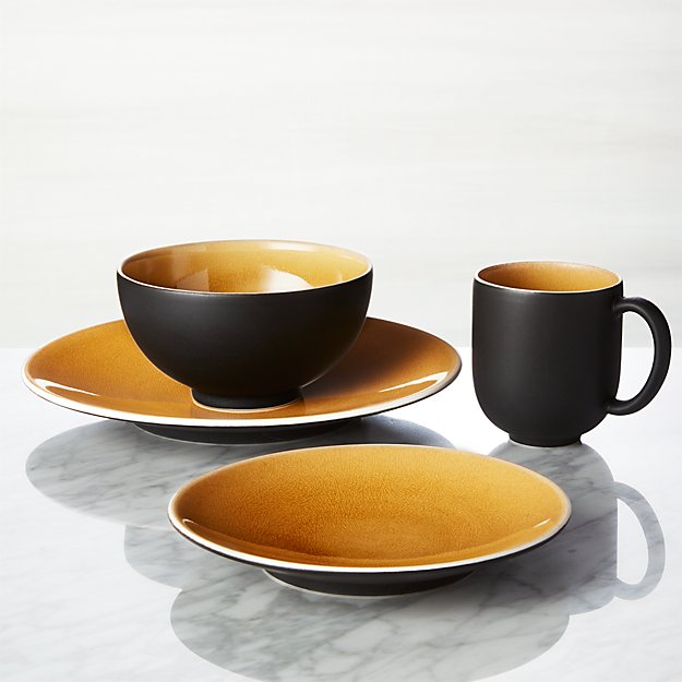Jars Tourron Amber 4-Piece Place Setting